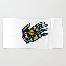 Positivity – Helping Hand Beach Towel
