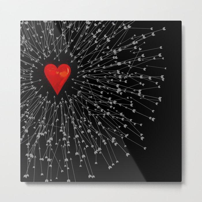 Heart&Arrows_BLACK Metal Print