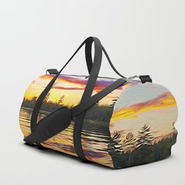 Up North Sunset Duffle Bag