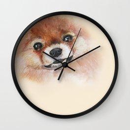 pomeranian1 Wall Clock