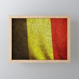 Cracked Belgium flag Framed Mini Art Print