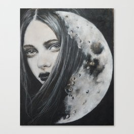 Weeping Heart and the Moon Canvas Print