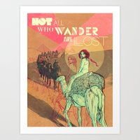 wanderlust Art Prints featuring Wanderlust by Isabel Arenas