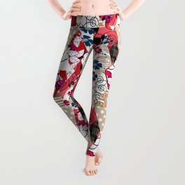 Colorful national patchwork of 12 Leggings