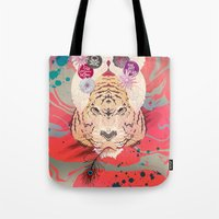 psychedelic Tote Bags featuring Psychedelic by Pepe Psyche