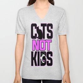 Cats Not Kids Unisex V-Neck
