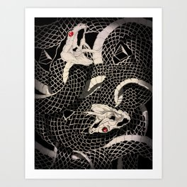 Dueling Snakes Art Print