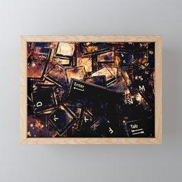 keyboard keys letters wsstd Framed Mini Art Print