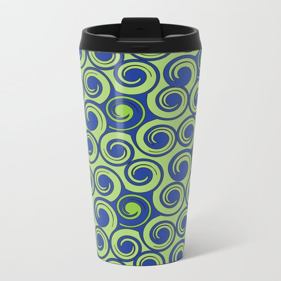 Pattern C Metal Travel Mug