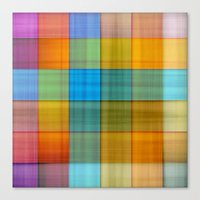 fabric Canvas Prints featuring Fabric by RingWaveArt