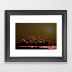 SUNSETSHORE Framed Art Print