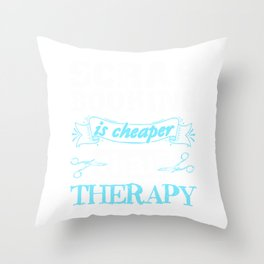 scrapbooking is better than terapy 02 Throw Pillow