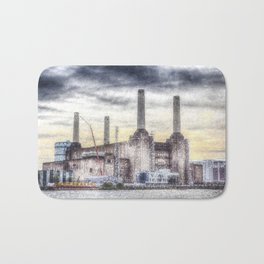Battersea Power-Station London Snow Bath Mat