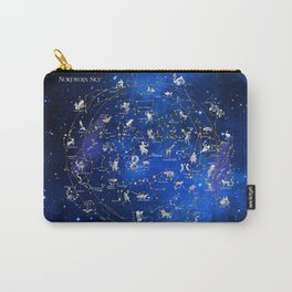 Northern Sky Constellations Map Carry-All Pouch
