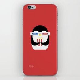 Penguin + Movie Time iPhone Skin