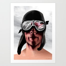 The Man Who Wanted To Be Lindbergh Art Print