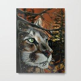 """STARFALL DUSK""   MOUNTAIN LION Metal Print"