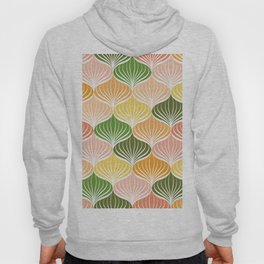 Abstract floral pattern geometric brush stroke Hoody