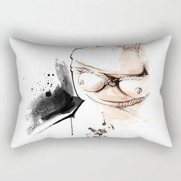 Shibari - Japanese BDSM Art Painting #14 Rectangular Pillow
