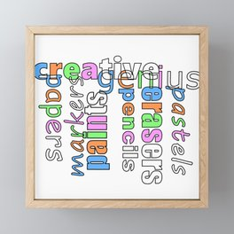 Creative Genius - Font Art Framed Mini Art Print
