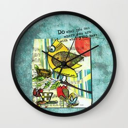 Be Resourceful Wall Clock