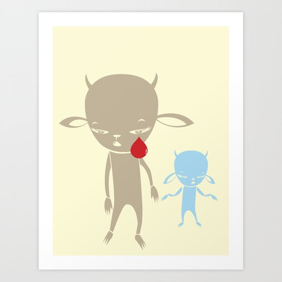 DONT BE CRUEL JUST WANNA BE YOUR BUDDY Art Print