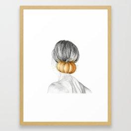 Halloween woman Framed Art Print