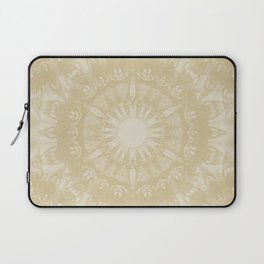 Peaceful kaleidoscope in beige Laptop Sleeve