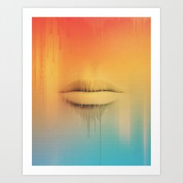 Data Kiss Art Print