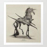 Thestral  Art Print