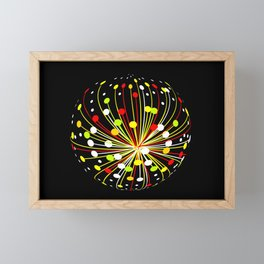 Multi Color Abstract Explosion Framed Mini Art Print
