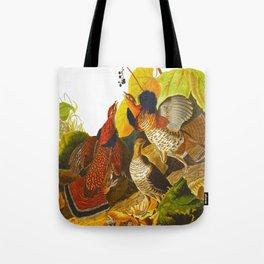 Ruffed Grouse Bird Tote Bag