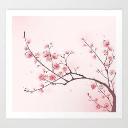 Oriental cheery blossom in spring 006 Art Print