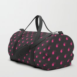 BLACK & HOT PINK BOMB DIGGITYS ALL OVER SMALL Duffle Bag