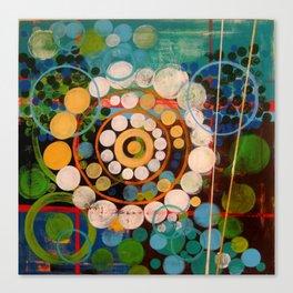 """Orange & Blue"" Canvas Print"