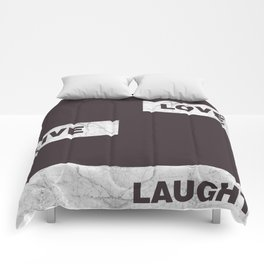 Love live laught Comforters