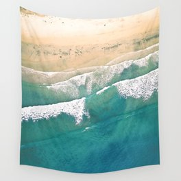 Turquoise Sea Beach Wall Tapestry