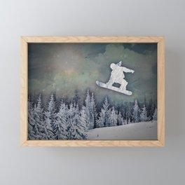 The Snowboarder Framed Mini Art Print