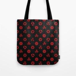 Visual Jutsu - black & red Tote Bag