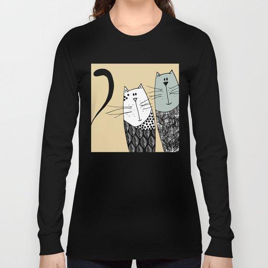 Mr & Mrs Cat Long Sleeve T-shirt