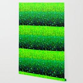 Glitter Sparkles Green Wallpaper