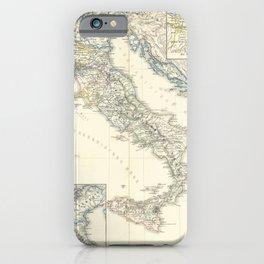 Vintage Map - Spruner-Menke Handatlas (1880) - 27 Italy before the Peace of Campoformio, 1492 - 1797 iPhone Case