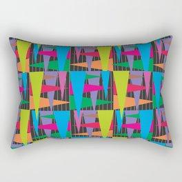 Abstract traingle Rectangular Pillow