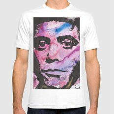 Lou Reed SMALL White Mens Fitted Tee