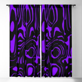 A twisted interweaving of violet spots from flowing lava and a light chaotic cycle. Blackout Curtain