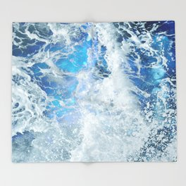 Perfect Sea Waves II Throw Blanket
