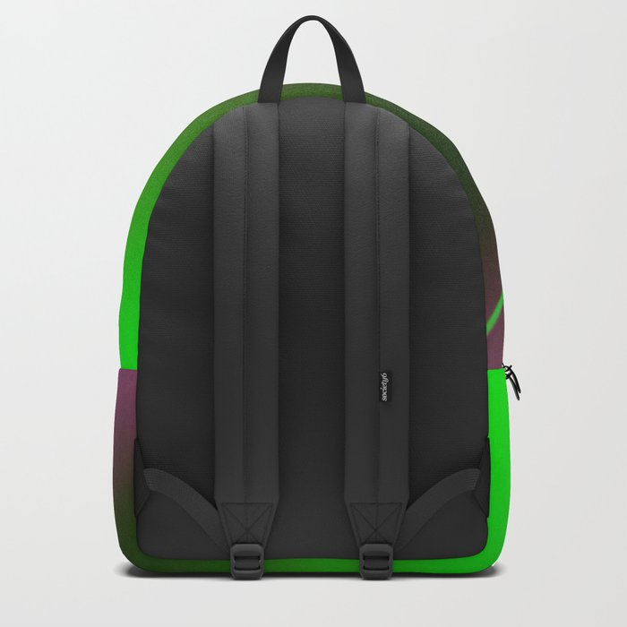Minimal Landscape with Neon Light Backpack