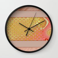 frame Wall Clocks featuring Frame by Fine2art