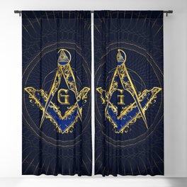Freemasonry symbol Square and Compasses Blackout Curtain