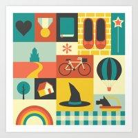 oz Art Prints featuring Oz by Ariel Wilson